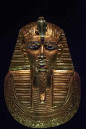 One of the masks of Tutankhamun - original mask....
