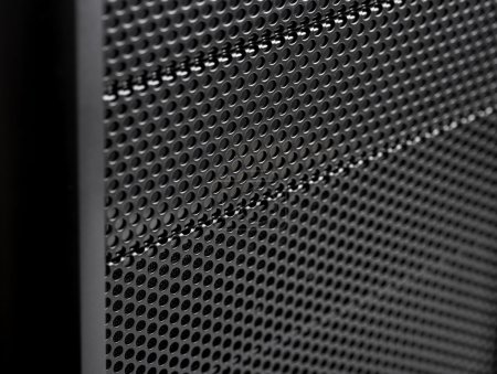 abstract metal grid background. Computer Case