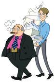 Two men office clerks