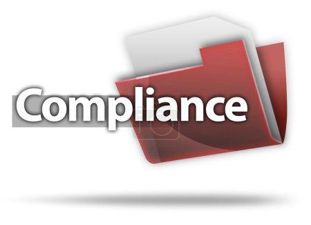 "3D Style Folder Icon ""Compliance"""