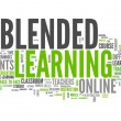 Word Cloud with Blended Learning related tags...