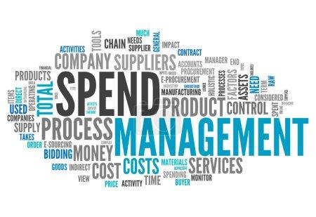 Photo pour Word Cloud avec des étiquettes liées à la gestion des dépenses - image libre de droit