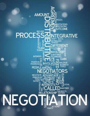 Photo pour Cloud Word avec des balises liées à la négociation - image libre de droit