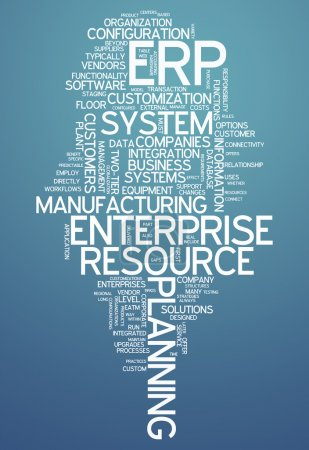 Photo for Word Cloud with Enterprise Resource Planning related tags - Royalty Free Image