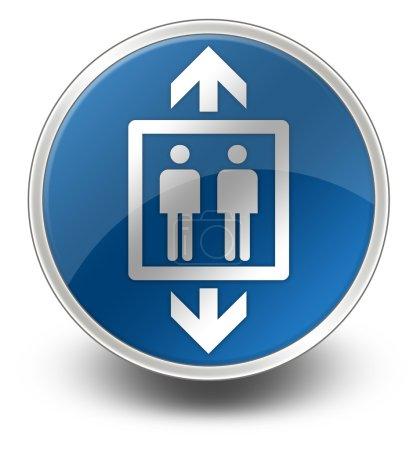 Photo pour Icône, Bouton, Pictogramme avec ascenseur, Symbole d'ascenseur - image libre de droit