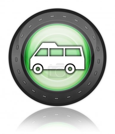 Icon, Button, Pictogram with Van symbol...