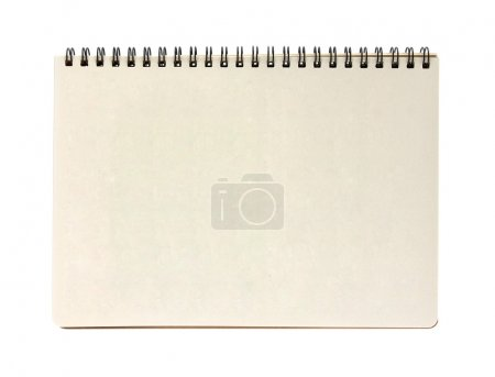Photo for Blank notebook isolated on white background - Royalty Free Image