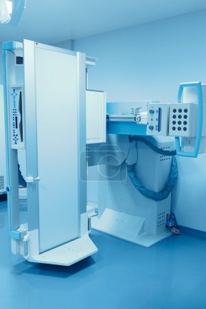 Stationary X-ray machine. The modern medical equipment.