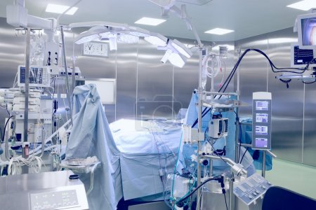Surgical operating room with patient