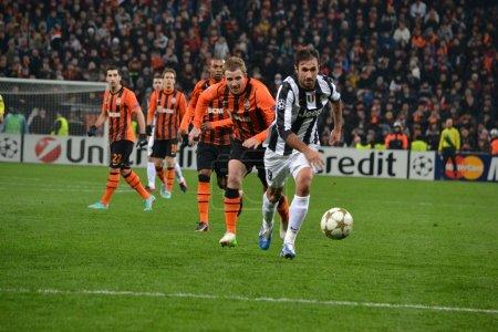 Shakhtar Juventus Kucher runs for