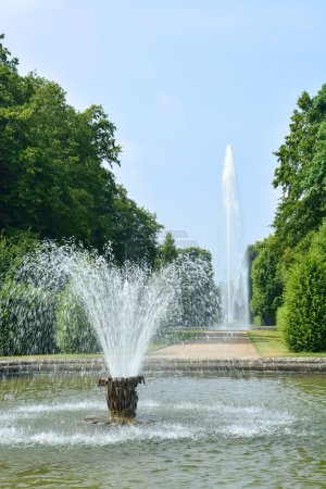 Fountains in Herrenhausen Gardens, Hannover, Germany