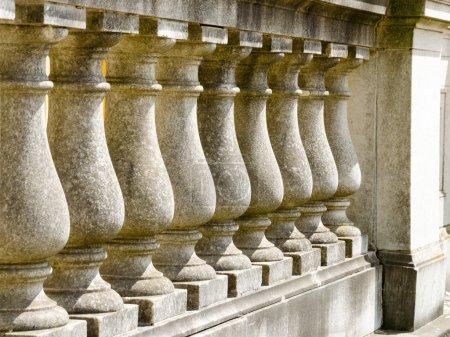 Fence made out of stone pillars, Potsdam, Brandenburg, Germany