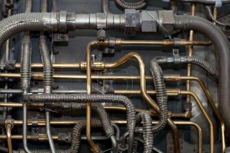 Photo pour Techno industrielle fond de tuyaux d'avion - image libre de droit