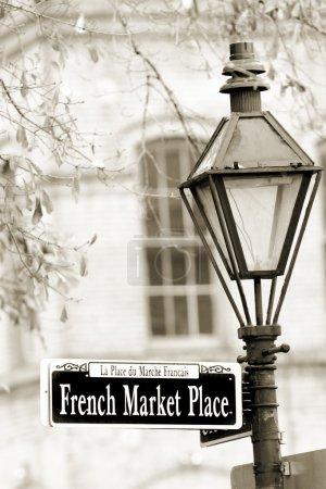 Photo pour Marché historique français à la Nouvelle-Orléans dans le quartier français - image libre de droit