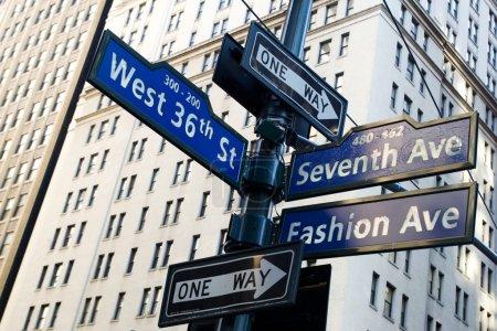 Corner of Fashion and West 36th street in Manhattan