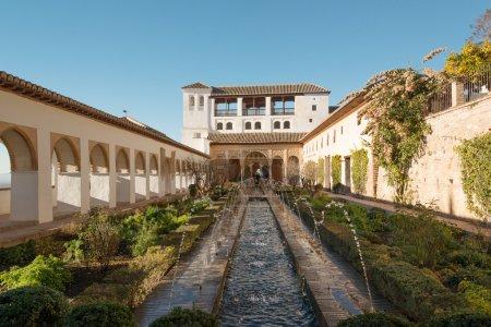 Generalife palace in Alhambra, Granada