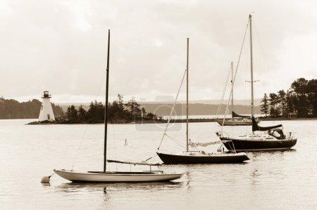 Foto de Faro d o lago Bras cerca de baddeck, cape breton, Nueva Escocia - Imagen libre de derechos