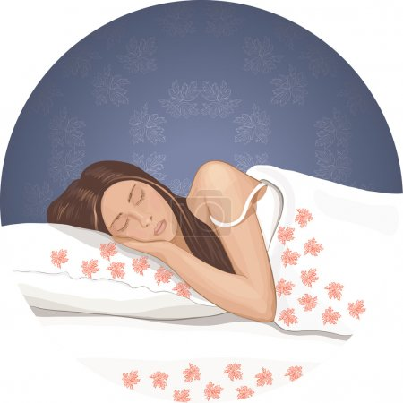 Illustration for The sleeping young woman - Royalty Free Image
