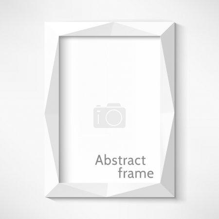 White abstract frame. Vector illustration