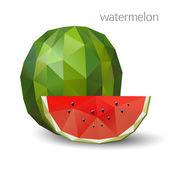 Polygonal watermelon Vector illustration