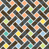 Seamless basket weave background pattern vector