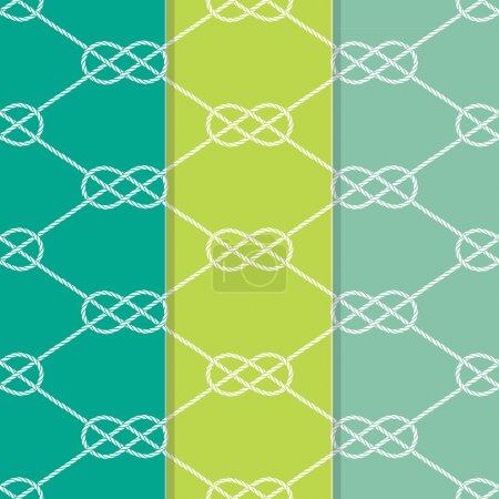 Set of Three Seamless Figure 8 Knot Pattern