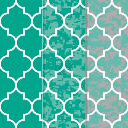 Set of 3 Seamless Moroccan Lattice Background Patt...