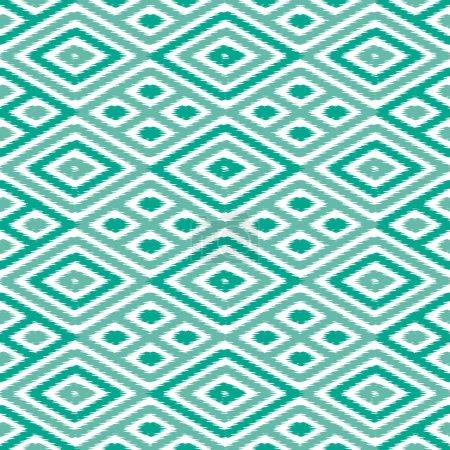 Seamless Diamond Ikat Background