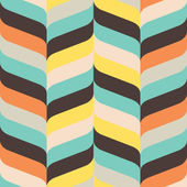 Curved and pointed chevron in ikat weave pattern