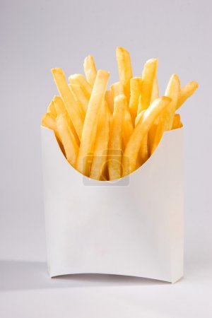 Photo for French fries in white box. big size - Royalty Free Image