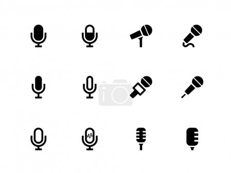 Microphone icons on white background. Vector illus...