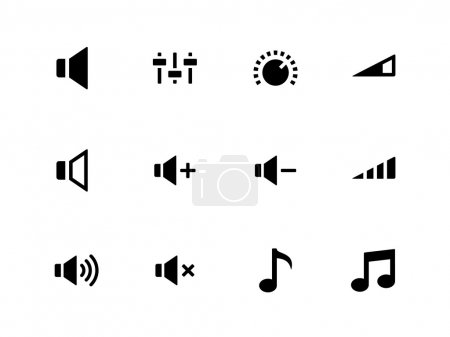 Speaker icons on white background. Volume control.