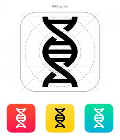 Illustration for DNA icon on white background. Vector illustration. - Royalty Free Image
