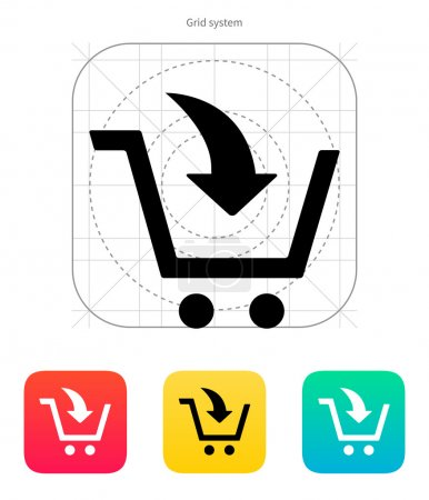 Illustration for Add to shopping cart icon. Vector illustration. - Royalty Free Image