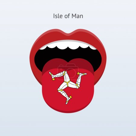 Isle of Man language. Abstract human tongue.
