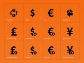 Exchange Rate icons on orange background
