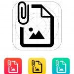 Attached Photo file icon. Vector illustration....
