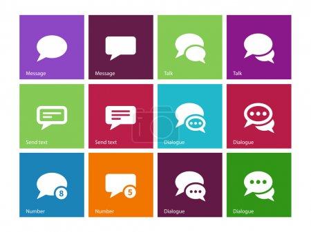Illustration pour Message bulle icônes sur fond de couleur. Illustration vectorielle . - image libre de droit