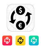 Exchange money icon Vector illustration