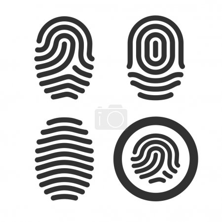 Fingerprint icons set.