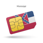 State of Mississippi phone sim card with flag