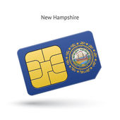 State of New Hampshire phone sim card with flag
