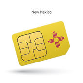 State of New Mexico phone sim card with flag