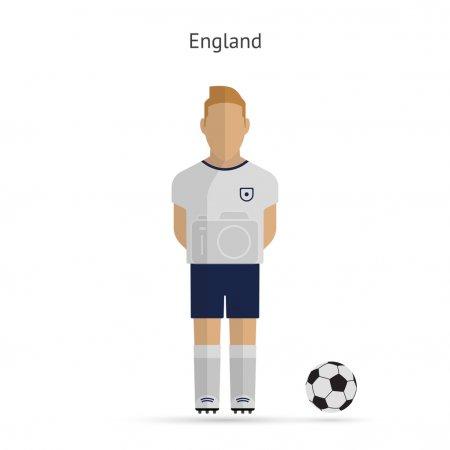 National football player. England soccer team uniform.