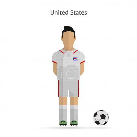 National football player. United States soccer team uniform.