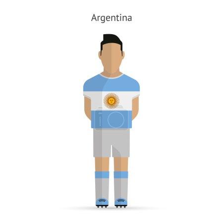 Argentina football player. Soccer uniform.
