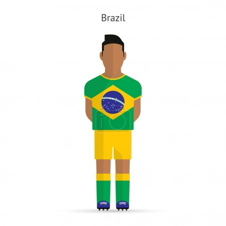 Brazil football player. Soccer uniform.
