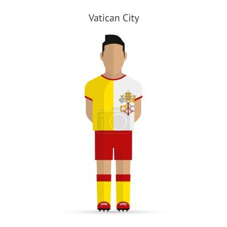 Vatican City football player. Soccer uniform.