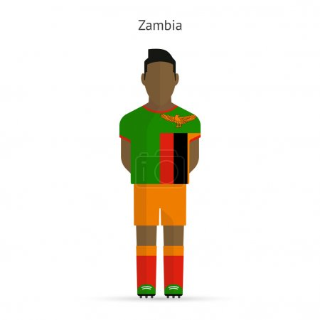 Zambia football player. Soccer uniform.