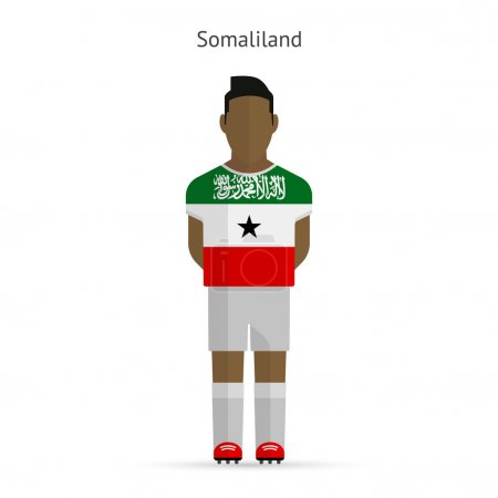 Somaliland football player. Soccer uniform.